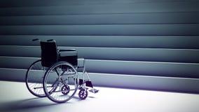 Αναπηρική καρέκλα και σκαλοπάτια διανυσματική απεικόνιση