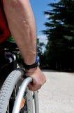 αναπηρική καρέκλα Mann στοκ φωτογραφίες με δικαίωμα ελεύθερης χρήσης