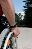 αναπηρική καρέκλα Mann στοκ εικόνες