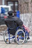 αναπηρική καρέκλα Mann στοκ εικόνα με δικαίωμα ελεύθερης χρήσης