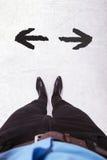 Αναποφάσιστο άτομο Στοκ Φωτογραφία