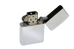 Αναπτήρας Zippo που απομονώνεται στο άσπρο υπόβαθρο Στοκ φωτογραφίες με δικαίωμα ελεύθερης χρήσης