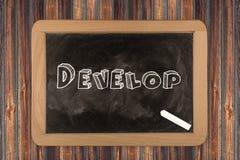 Αναπτυχθείτε - πίνακας κιμωλίας στοκ εικόνα με δικαίωμα ελεύθερης χρήσης