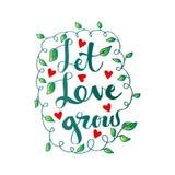 αναπτύξτε αφήνει την αγάπη ελεύθερη απεικόνιση δικαιώματος