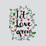 αναπτύξτε αφήνει την αγάπη διανυσματική απεικόνιση
