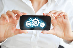 Αναπτύξτε την κινητή έννοια τεχνολογίας συσκευών apps Στοκ Φωτογραφία