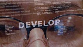 Αναπτύξτε το κείμενο στο υπόβαθρο του υπεύθυνου για την ανάπτυξη απόθεμα βίντεο