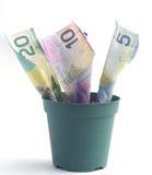 αναπτύσσοντας χρήματα Στοκ Φωτογραφία