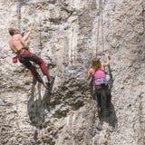 Αναρρίχηση βράχου Στοκ εικόνα με δικαίωμα ελεύθερης χρήσης