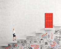 Αναρρίχηση μιας σκάλας της επιτυχίας Στοκ Φωτογραφία