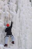 Αναρρίχηση πάγου Στοκ Εικόνα