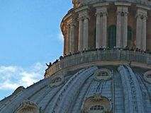 Αναρρίχηση στο θόλο της βασιλικής του SAN Pedro στοκ φωτογραφίες με δικαίωμα ελεύθερης χρήσης