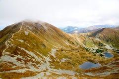 Αναρρίχηση της αιχμής Ostry Rohac σε Tatras Στοκ Εικόνα