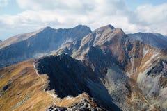 Αναρρίχηση της αιχμής Placlive σε Tatras Στοκ Εικόνες
