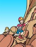 αναρρίχηση του βράχου κα&tau Στοκ εικόνες με δικαίωμα ελεύθερης χρήσης