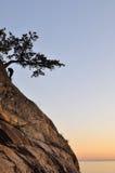 αναρρίχηση του βράχου σημ&e Στοκ Εικόνες