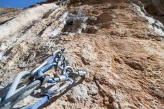 Αναρρίχηση του εξοπλισμού στην κορυφή των τοίχων που αγνοούν valle Στοκ εικόνες με δικαίωμα ελεύθερης χρήσης
