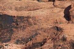 αναρρίχηση του κόκκινου βράχου Στοκ Φωτογραφίες