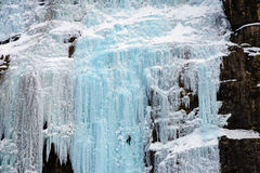 Αναρρίχηση του πάγου Στοκ φωτογραφία με δικαίωμα ελεύθερης χρήσης