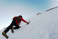 αναρρίχηση του πάγου Στοκ Εικόνα