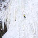 αναρρίχηση του πάγου Στοκ Εικόνες