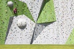 αναρρίχηση του τοίχου βράχου Στοκ Φωτογραφία