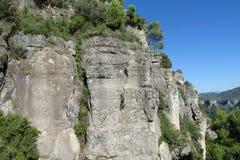 αναρρίχηση του τοίχου βράχου Στοκ Εικόνα