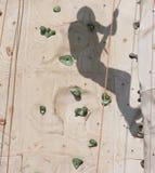 αναρρίχηση του τοίχου σκ& Στοκ Φωτογραφία