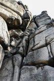 Αναρρίχηση των βουνών Rudawy Janowickie, Πολωνία βράχου Στοκ Εικόνες