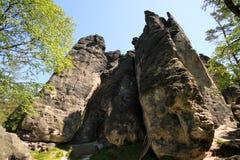 αναρρίχηση των βράχων Στοκ εικόνα με δικαίωμα ελεύθερης χρήσης