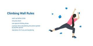 Αναρρίχηση των κανόνων τοίχων απεικόνιση αποθεμάτων