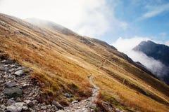 Αναρρίχηση Volovec στα βουνά Tatra Στοκ εικόνες με δικαίωμα ελεύθερης χρήσης