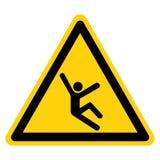 Αναρριχηθείτε στο σημάδι συμβόλων κινδύνου, διανυσματική απεικόνιση, απομονώστε στην άσπρη ετικέτα υποβάθρου EPS10 ελεύθερη απεικόνιση δικαιώματος
