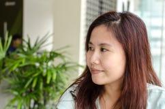 Αναρωμένος ασιατική γυναίκα στοκ φωτογραφία