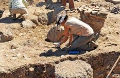Ανασκαφές Archeological στη ρωμαϊκή πόλη Sisapo, Λα Bienvenida, πραγματική επαρχία Ciudad, Ισπανία Στοκ φωτογραφία με δικαίωμα ελεύθερης χρήσης