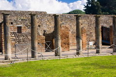 Ανασκαφές Archeological της Πομπηίας, Ιταλία Στοκ Φωτογραφίες