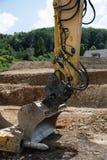 Ανασκαφή για ένα καινούργιο σπίτι στοκ φωτογραφίες με δικαίωμα ελεύθερης χρήσης
