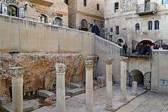 Ανασκαφή Cardo στην Ιερουσαλήμ στοκ φωτογραφία