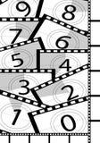 Ανασκοπήσεις αντίστροφης μέτρησης ταινιών Στοκ φωτογραφία με δικαίωμα ελεύθερης χρήσης