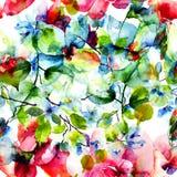 ανασκόπησης ατελείωτο λουλουδιών κεραμίδι άνοιξη προτύπων άνευ ραφής Στοκ φωτογραφίες με δικαίωμα ελεύθερης χρήσης