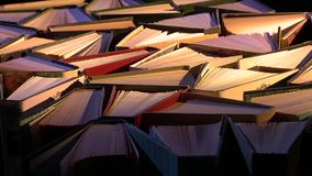 ανασκόπησης βιβλία που απομονώνονται μαύρα πέρα από τον πίνακα διανυσματική απεικόνιση