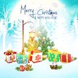 ανασκόπησης εξελικτικό διάνυσμα απεικόνισης διακοπών Χριστουγέννων editable απεικόνιση αποθεμάτων