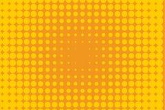 ανασκόπησης ημίτονο απεικόνισης διάνυσμα κειμένων λογότυπων διαστημικό Κωμικό διαστιγμένο σχέδιο Ζωηρόχρωμη orange-yellow διανυσμ Στοκ φωτογραφία με δικαίωμα ελεύθερης χρήσης