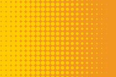 ανασκόπησης ημίτονο απεικόνισης διάνυσμα κειμένων λογότυπων διαστημικό Κωμικό διαστιγμένο σχέδιο Ζωηρόχρωμη orange-yellow διανυσμ Στοκ Φωτογραφίες