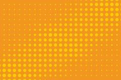 ανασκόπησης ημίτονο απεικόνισης διάνυσμα κειμένων λογότυπων διαστημικό Κωμικό διαστιγμένο σχέδιο Ζωηρόχρωμη orange-yellow διανυσμ Στοκ Εικόνα