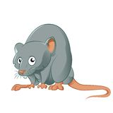 ανασκόπησης διανυσματικό λευκό αρουραίων ποντικιών κινούμενων σχεδίων αστείο Στοκ Φωτογραφία