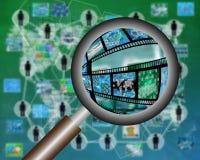 ανασκόπησης διανυσματικό λευκό ενίσχυσης γυαλιού απομονωμένο απεικόνιση Στοκ φωτογραφίες με δικαίωμα ελεύθερης χρήσης