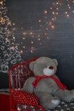 ανασκόπησης κεριών Χριστουγέννων νέο s σύνθεσης σκοτεινό έτος παιχνιδιών βραδιού αφηρημένο ανασκόπησης τέρας φαντασίας σύνθεσης d Στοκ φωτογραφίες με δικαίωμα ελεύθερης χρήσης