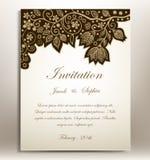 ανασκόπησης κομψότητας καρδιών θερμός γάμος συμβόλων πρόσκλησης ρομαντικός Στοκ Εικόνα