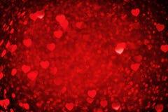 ανασκόπησης κόκκινος s ημέρας χρυσός βαλεντίνος καρδιών Στοκ εικόνες με δικαίωμα ελεύθερης χρήσης